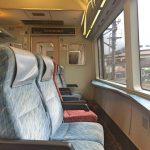 「伊豆急2100系ファリゾート21」海に向けて座席が配置!大きなガラス窓からの景色を堪能できる[2016年6月 伊豆旅行記 1]